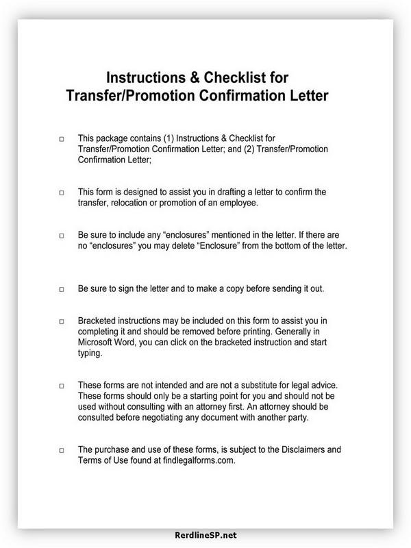 Promotion Recommendation Letter 09